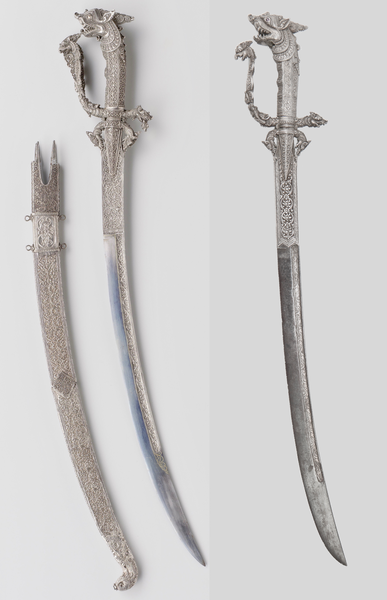 Two silver clad kasthane. One in the Rijksmuseum in Amsterdam, the other sold by Mandarin Mansion.