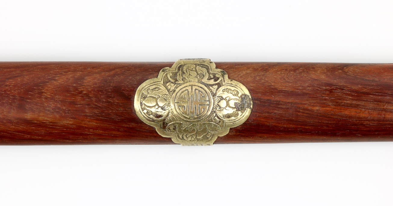 An antique Chinese scholar's straightsword or jian.