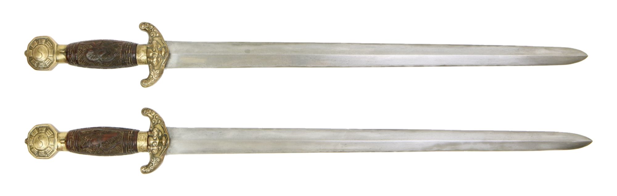 Antique Chinese double swords. Guangzhou, 1830 - 40's