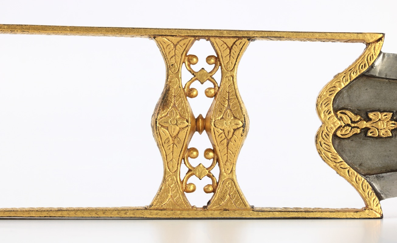 A lavishly gilt katar in the Bundi style, from the Leo Figiel collection.