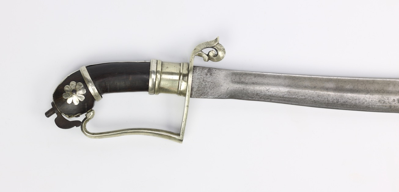A silver hilted parang nabur of south Borneo