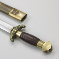 A jian with fine patterned blade