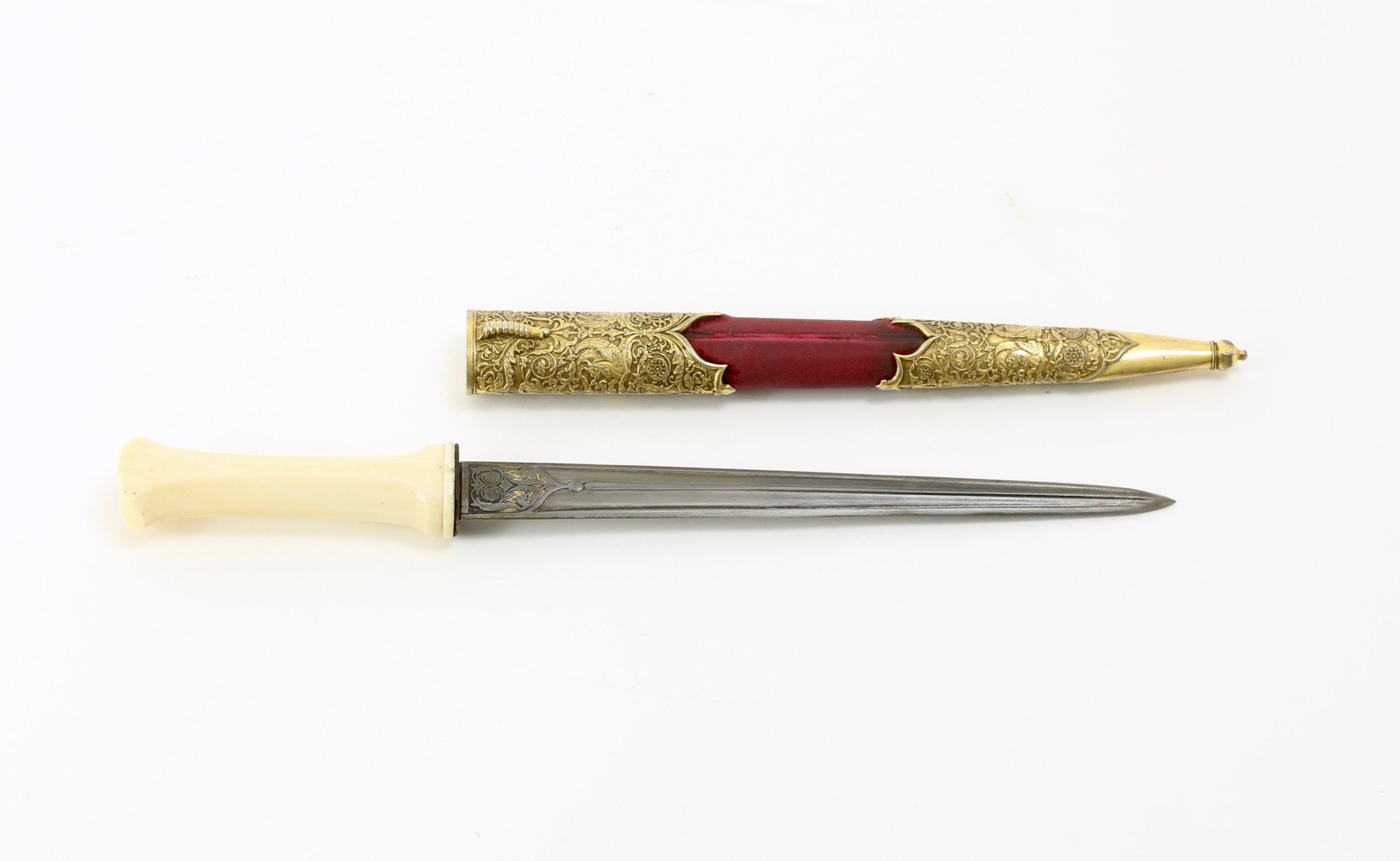 A fine Ottoman court dagger with south European renaissance style mounts