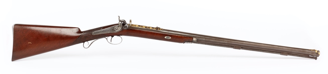 An English 19th century rifle with a fine Ottoman rifled barrel of the 18th century.