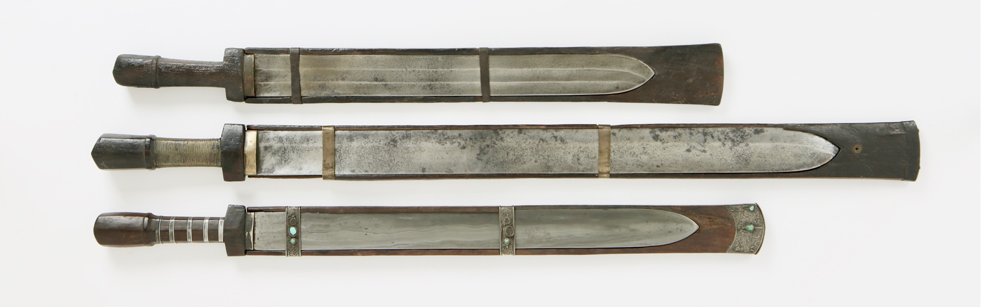 Three antique swords from the Kingdom of Sikkim.