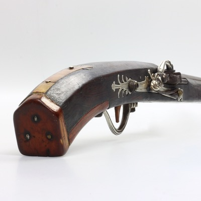 A rare Vietnamese matchlock with all-silver lock