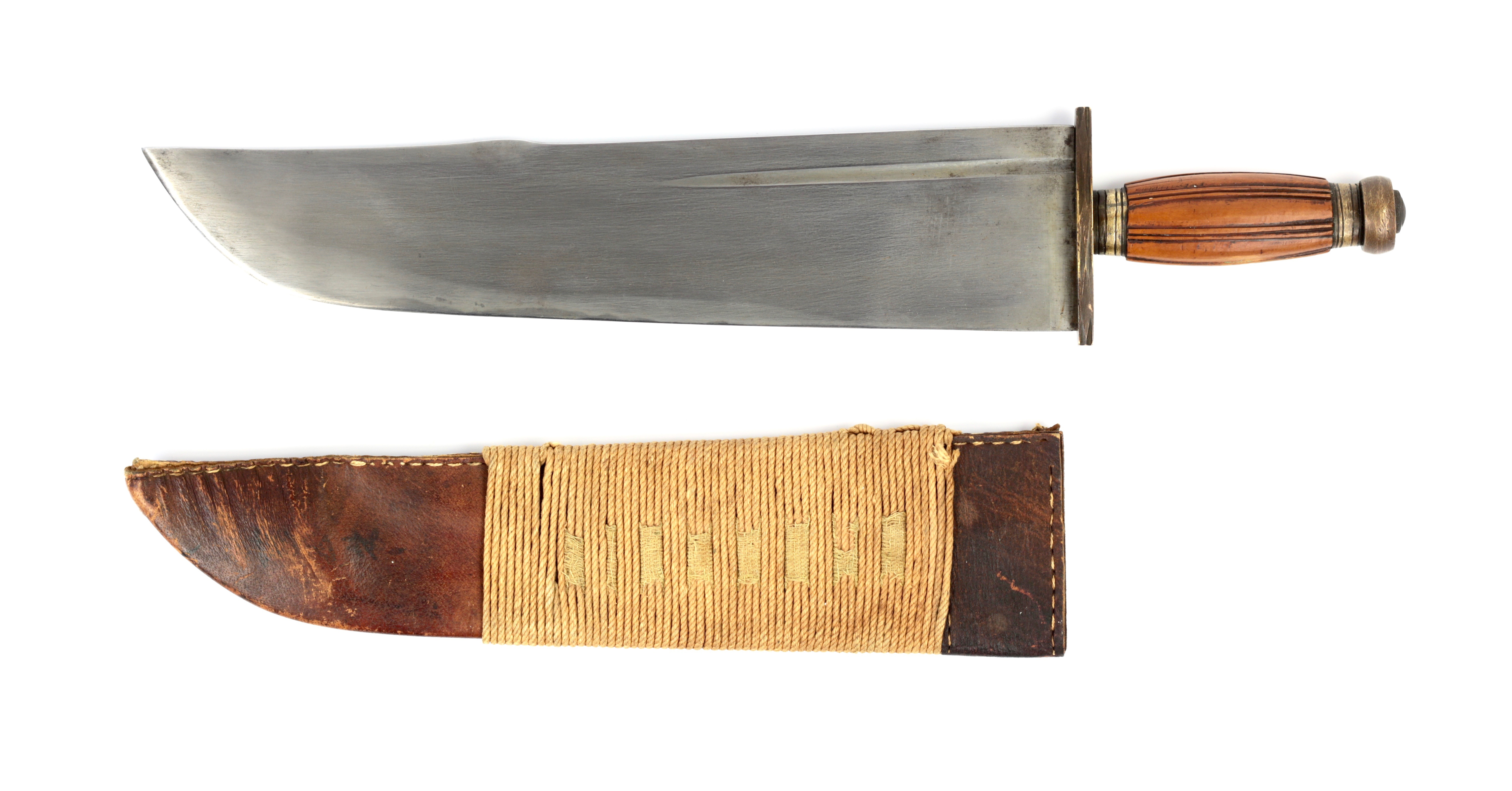 A wide-bladed Chinese fighting knife