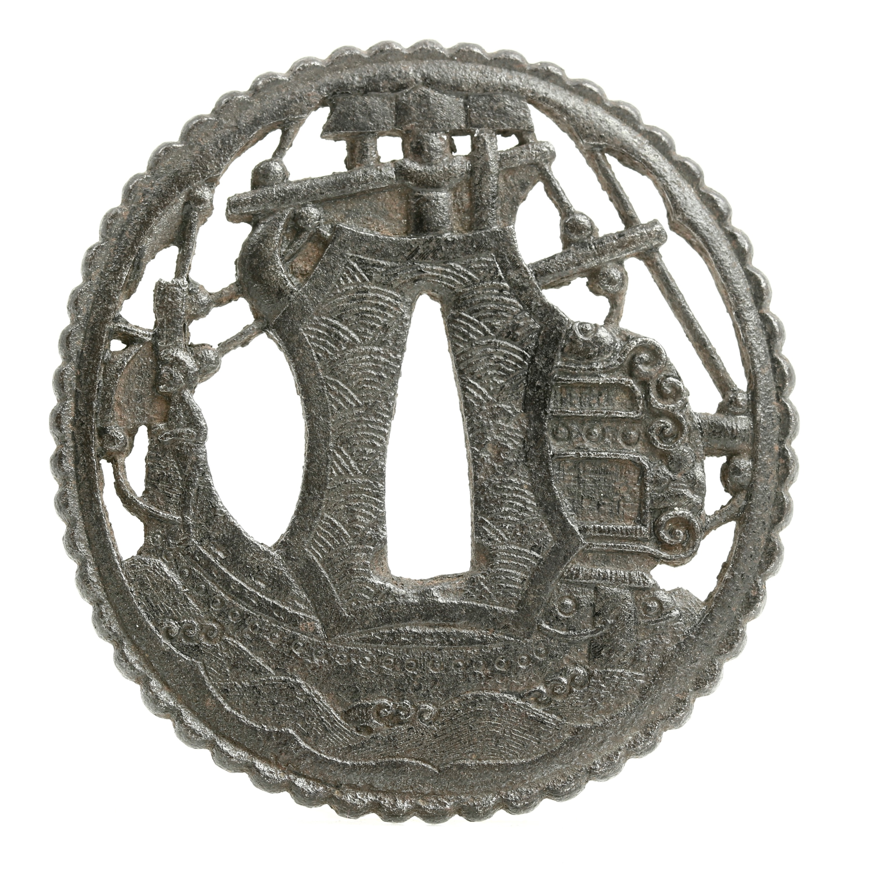 Iron ship sword guard