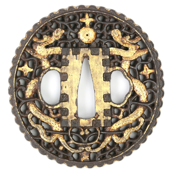 Nanban tsuba with christian orb