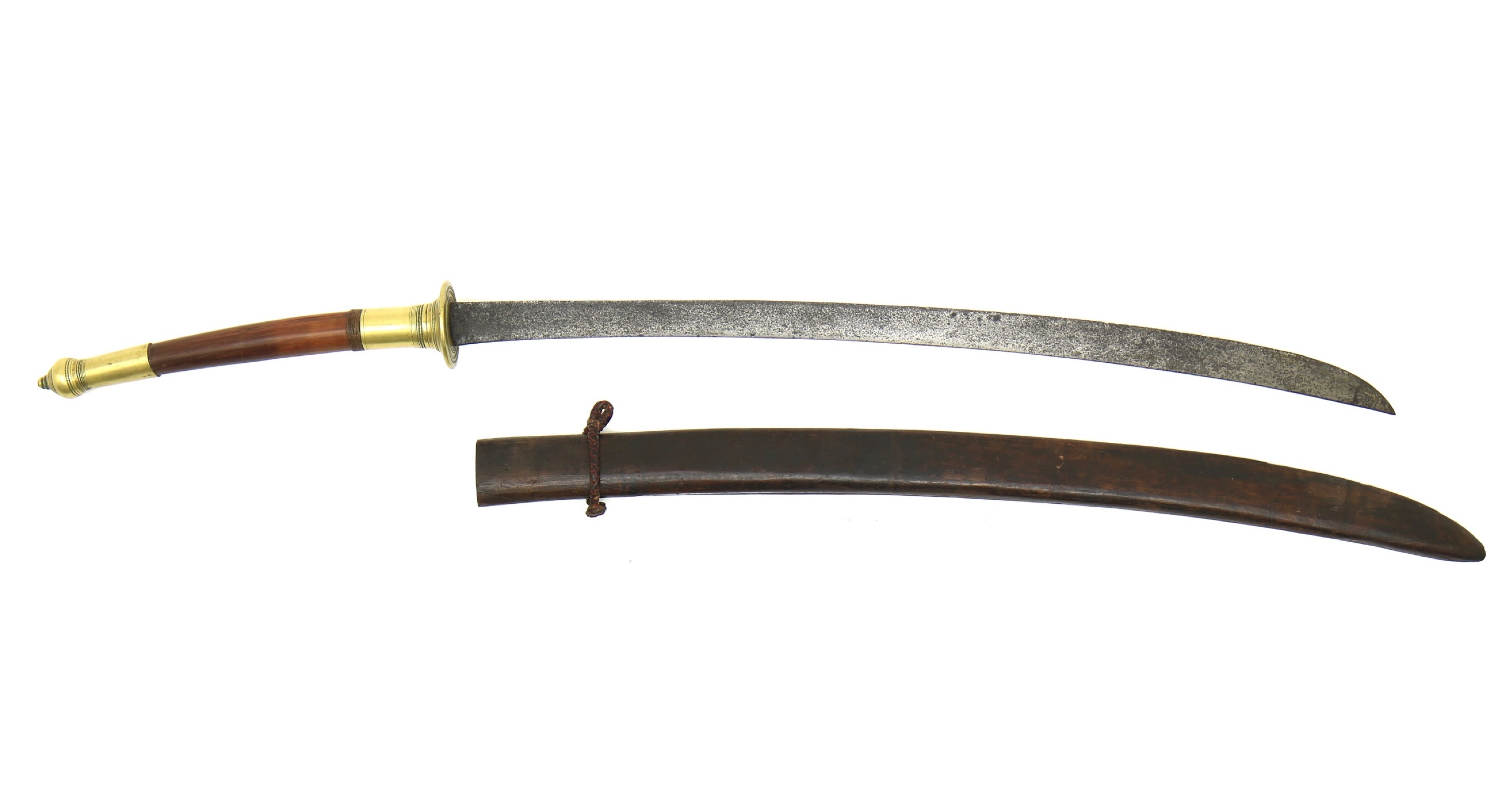 Brass mounted Thai daap