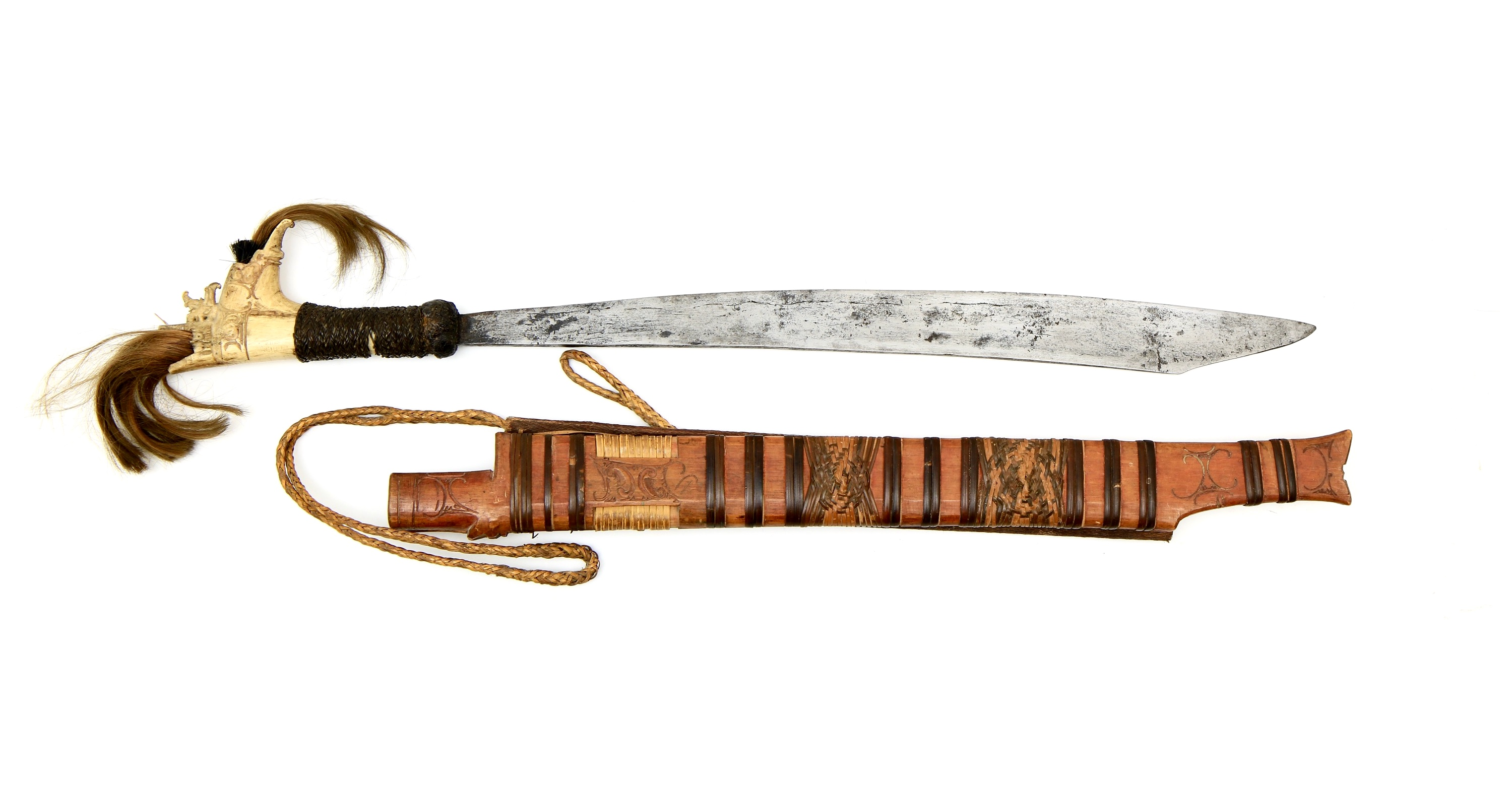 Mandau with scabbard