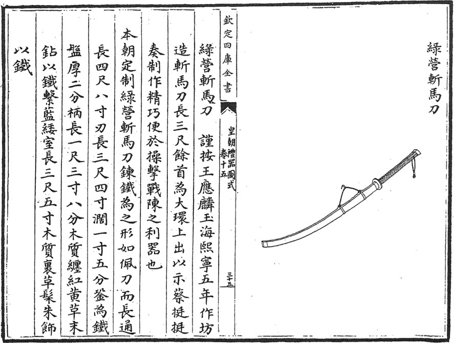 Zhanmadao in the Huangchao Liqi Tushi