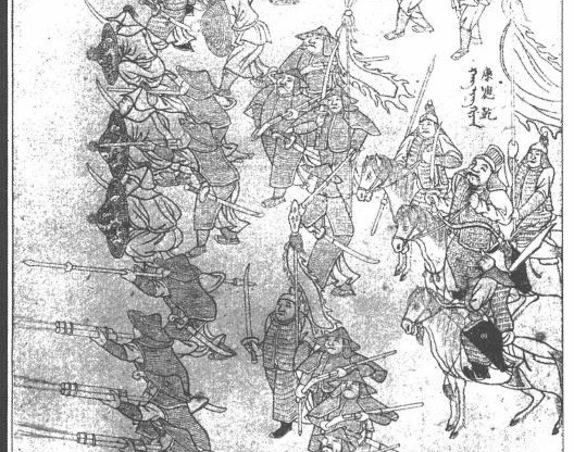 Ming commander Kang Yingqian fighting Jurchen