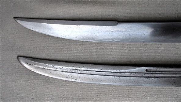 Close-up of the tip sections of the two yanmaodao