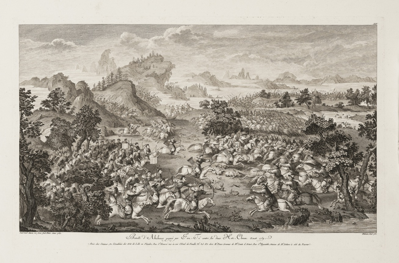 Victory of the Khorgos copperplate print