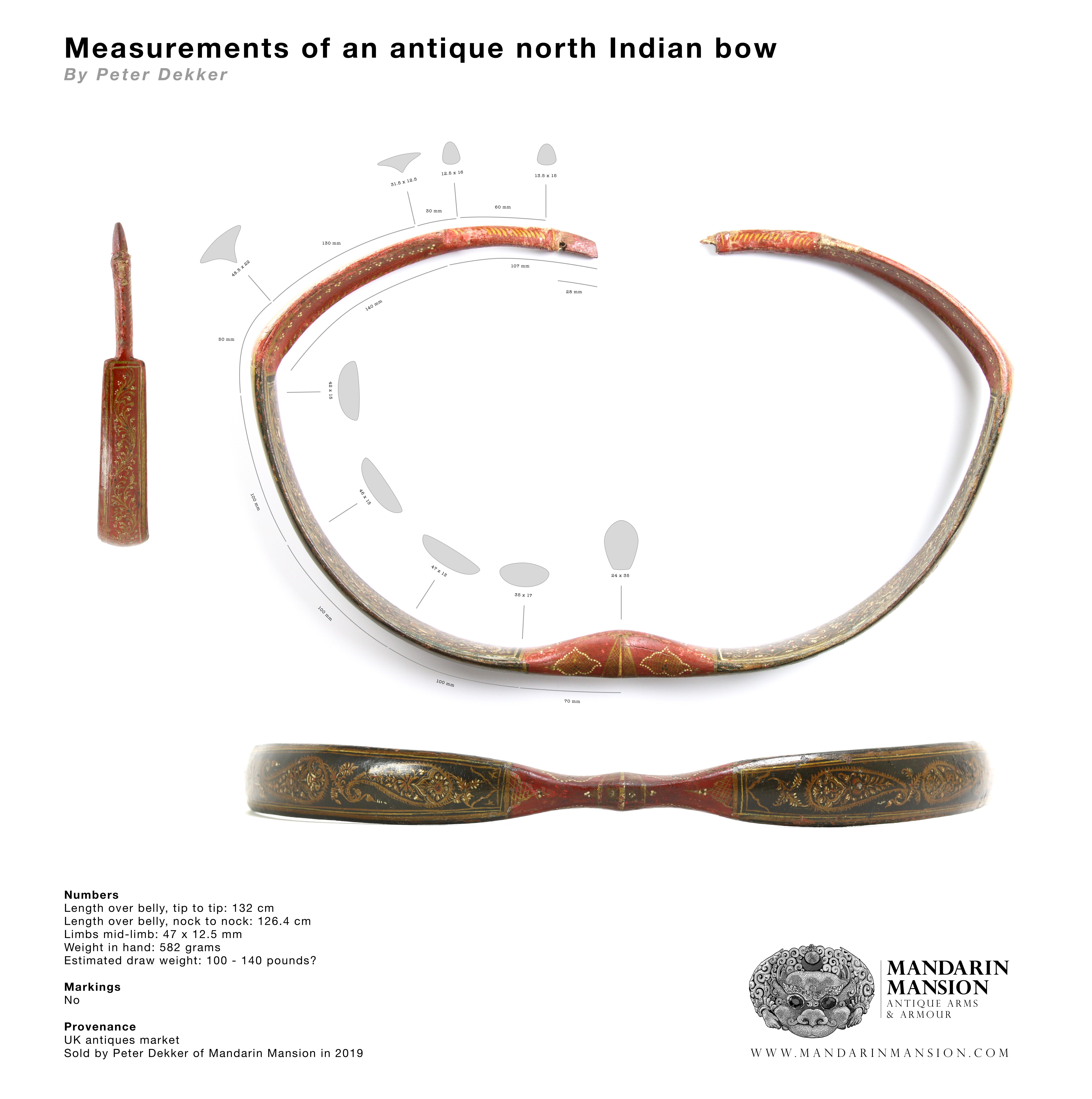 North Indian bow measurements