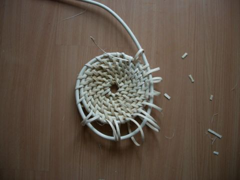 Making a Chinese rattan shield 2