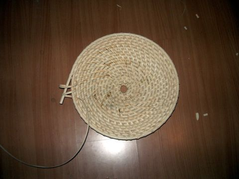 Making a Chinese rattan shield 5