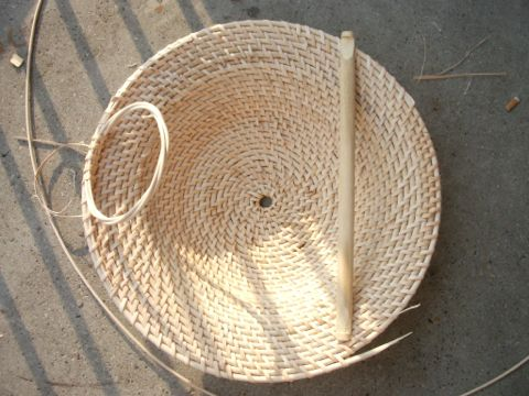 Making a Chinese rattan shield 6