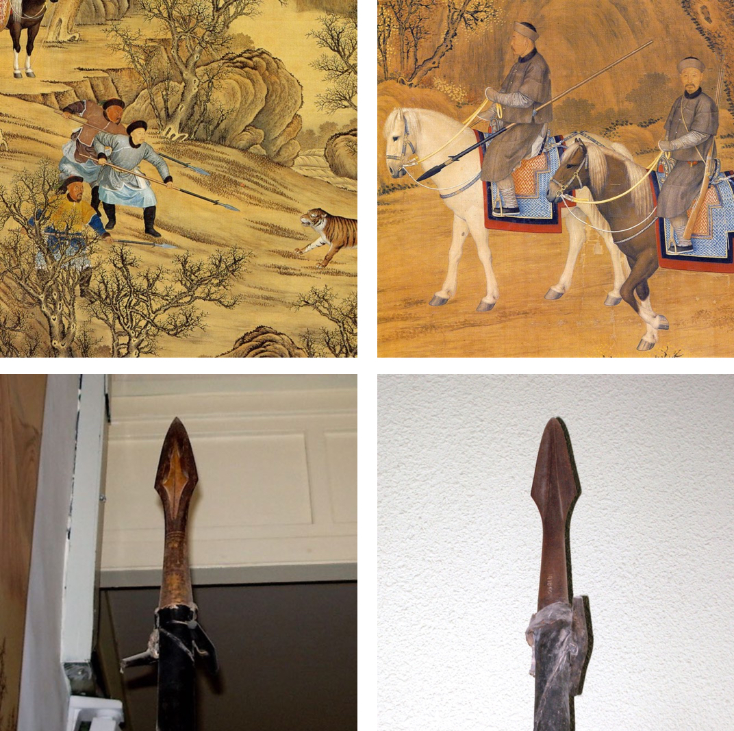 tiger spears in artwork and museum collections