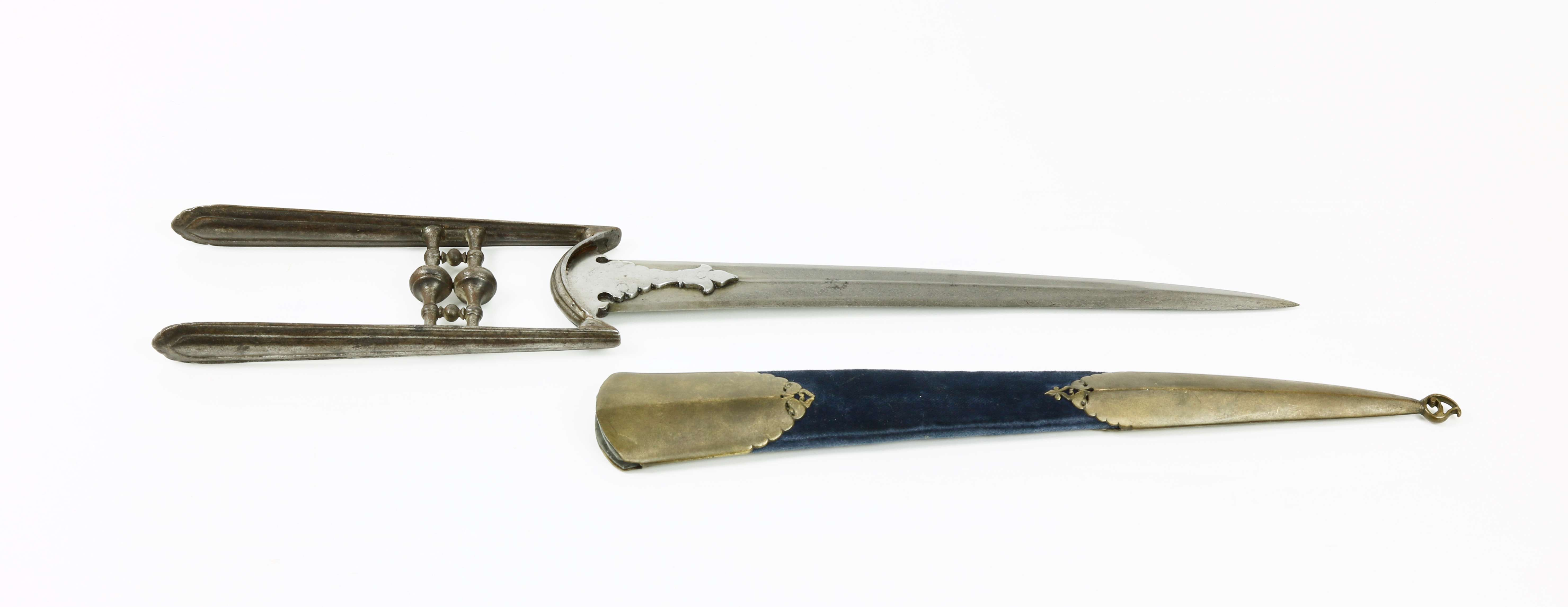 17th century South Indian katar with curved blade