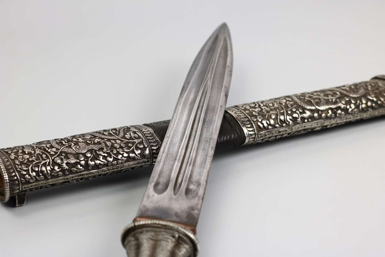 Double-edged Bhutanese dagger