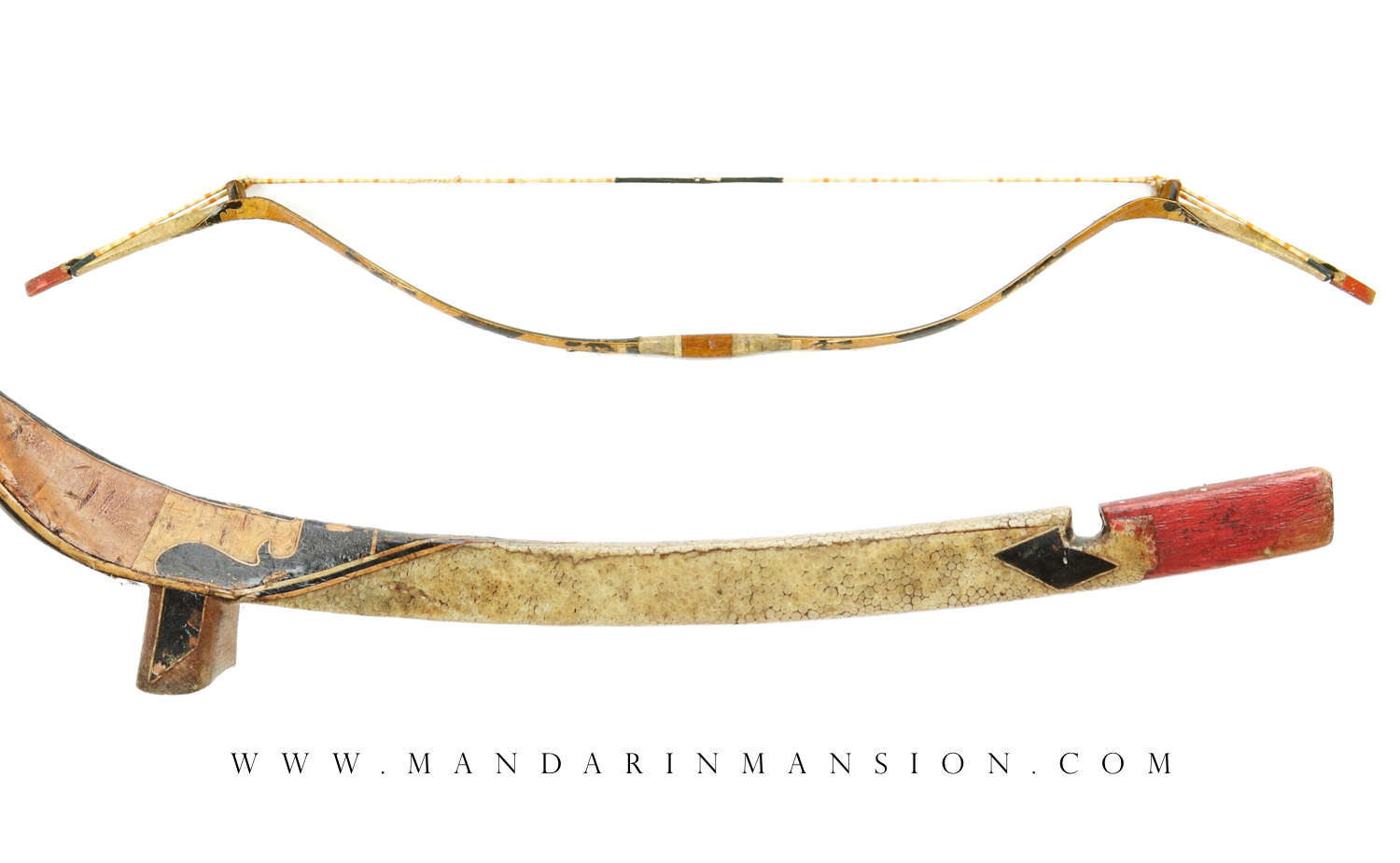 Antique Manchu bow from Changxing in Chengdu by Mandarin Mansion