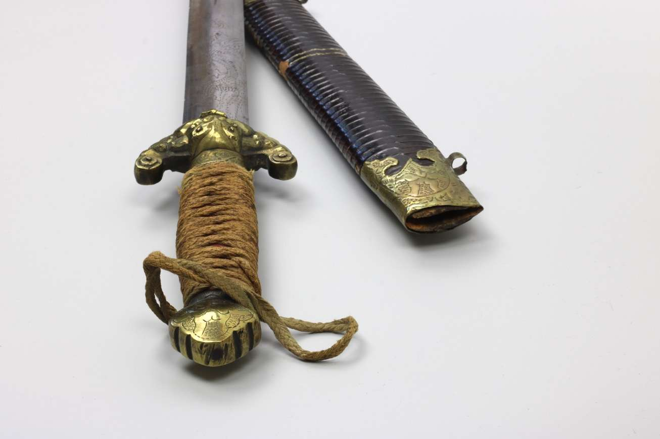 Antique Chinese practice sword