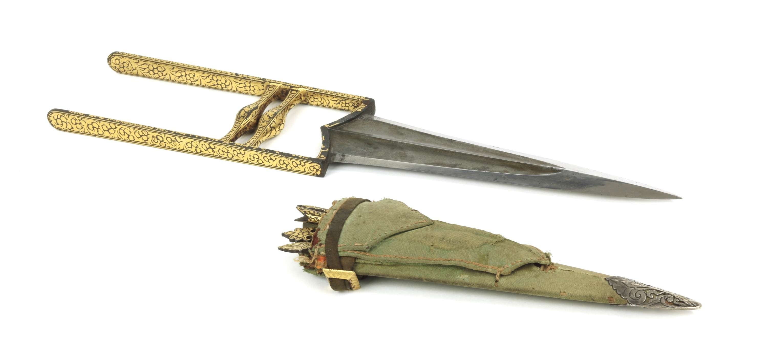 North Indian katar with tools