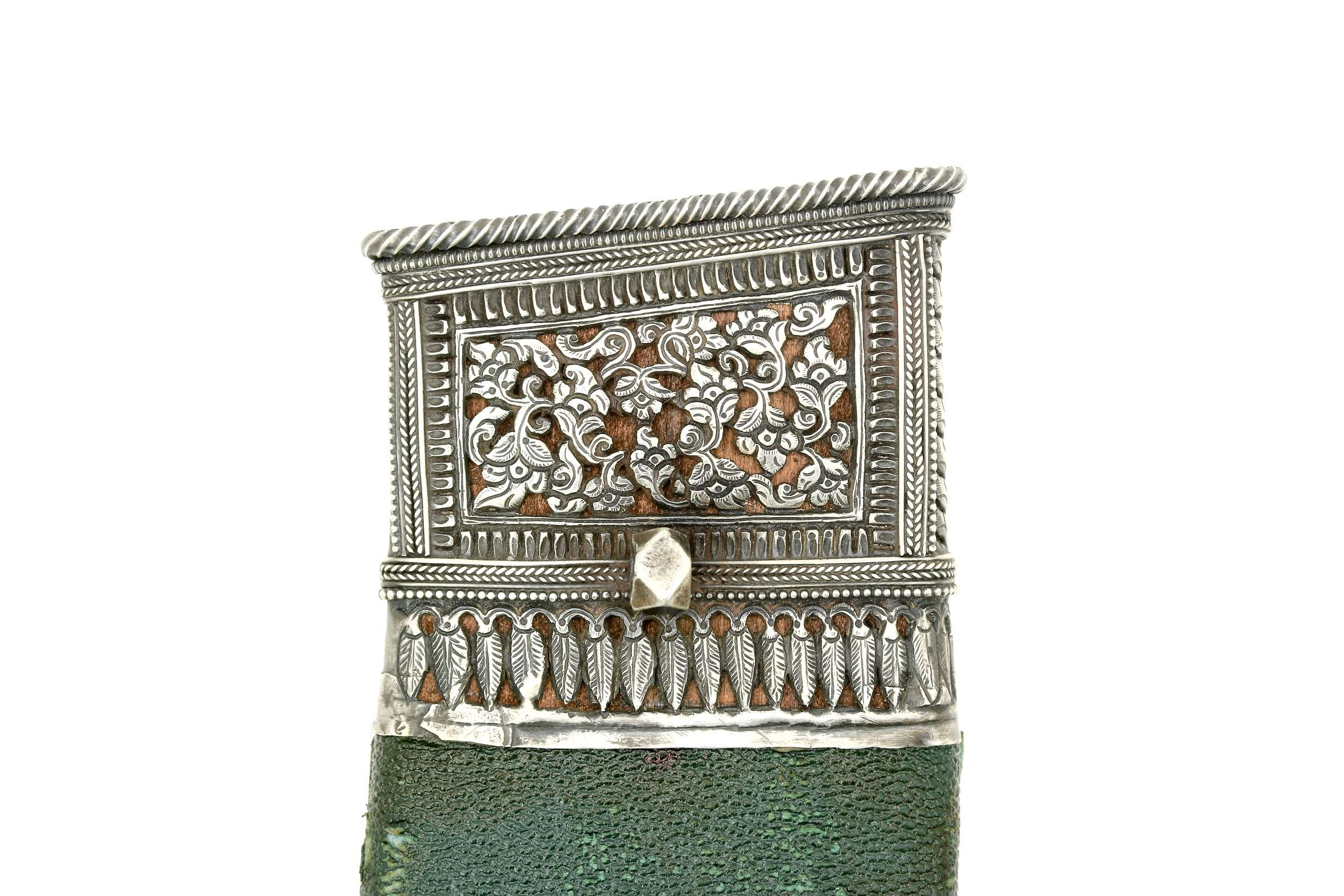 19th century silver mounted khukuki