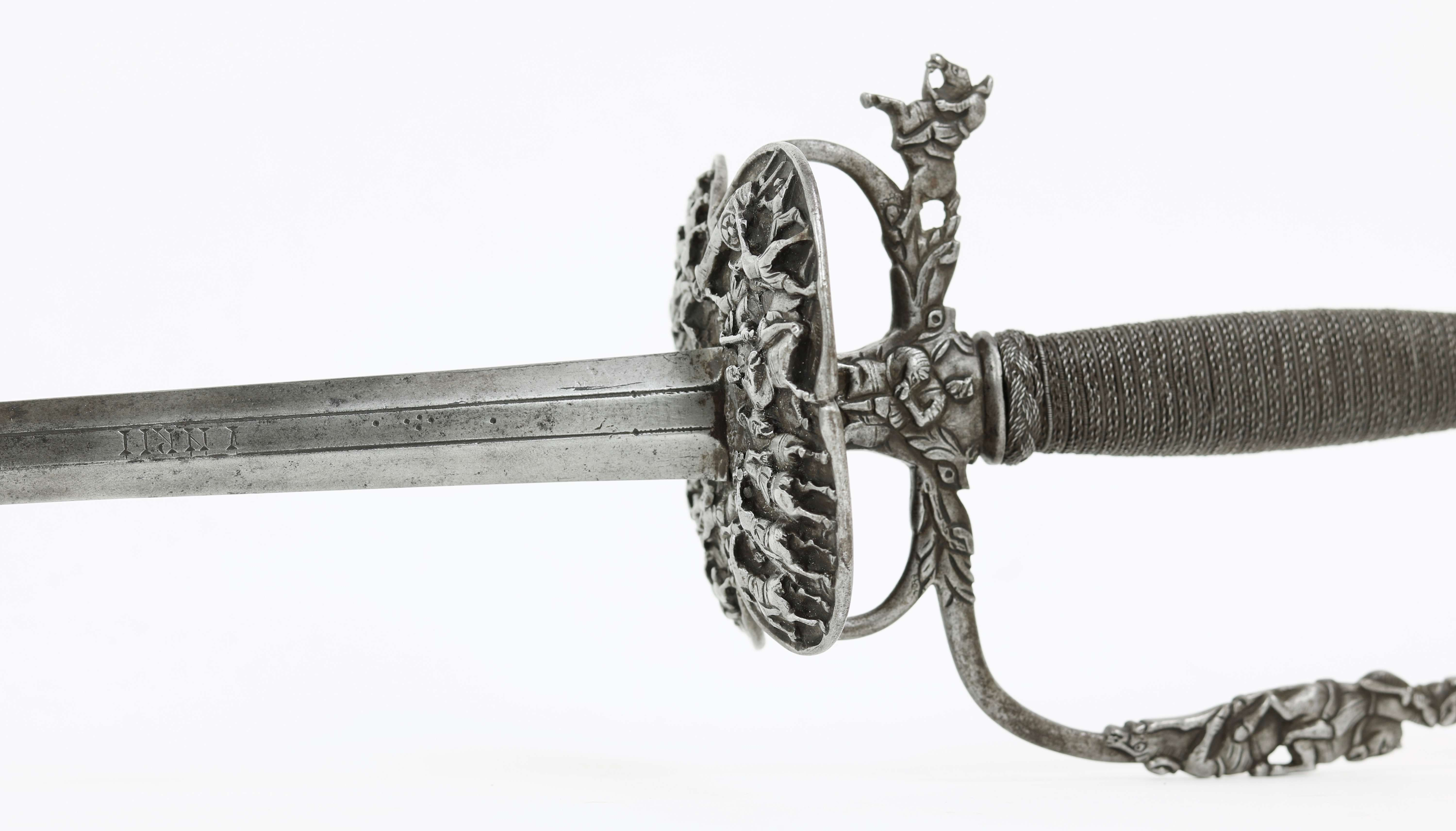 Chiseled iron Dutch smallsword