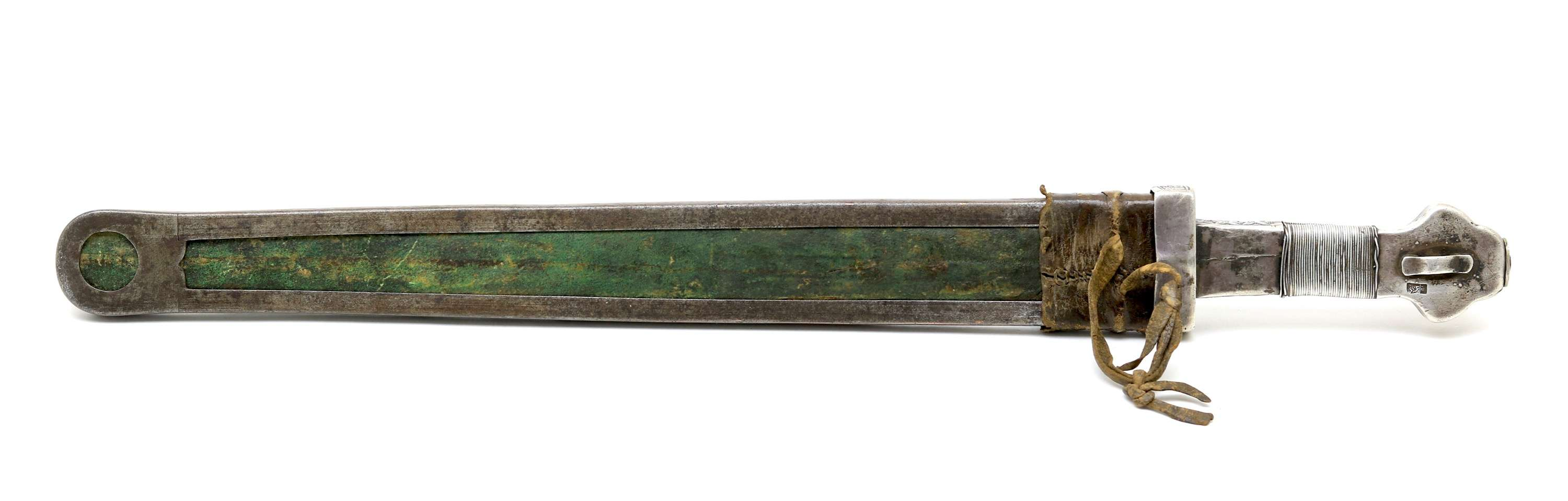 Tibetan silver hilted shortsword