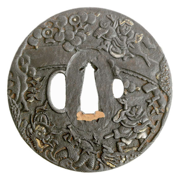 Duke of yellow rock tsuba
